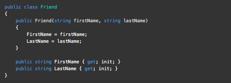 Init-only Properties