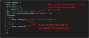 function in app.js