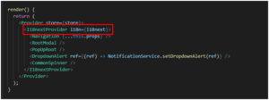 i18nextProvider, we get translation props for our nested components.